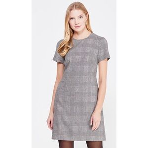 Banana Republic Wool Blend Plaid Short Sleeve Dres